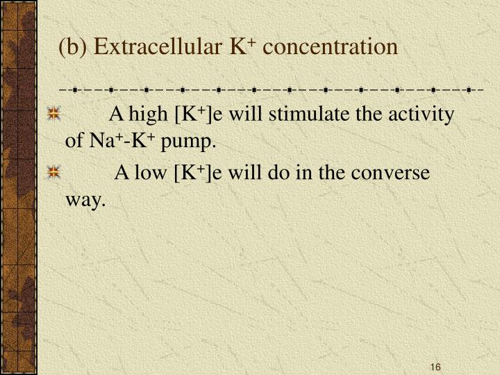 (b) Extracellular K
