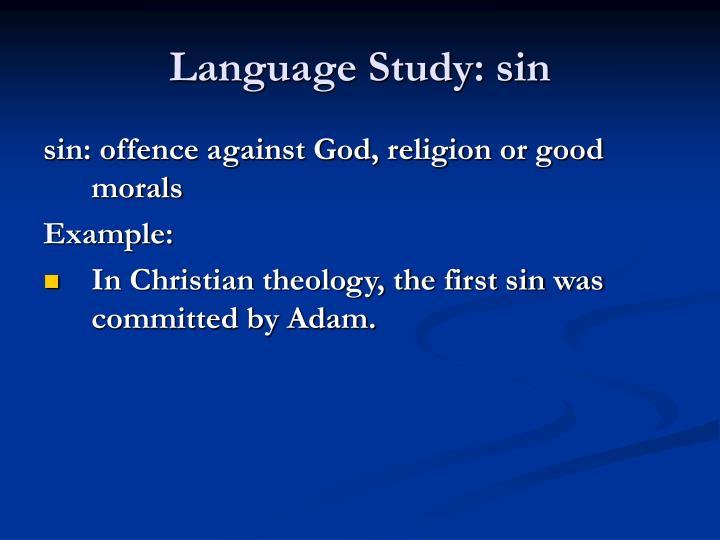 Language Study: sin
