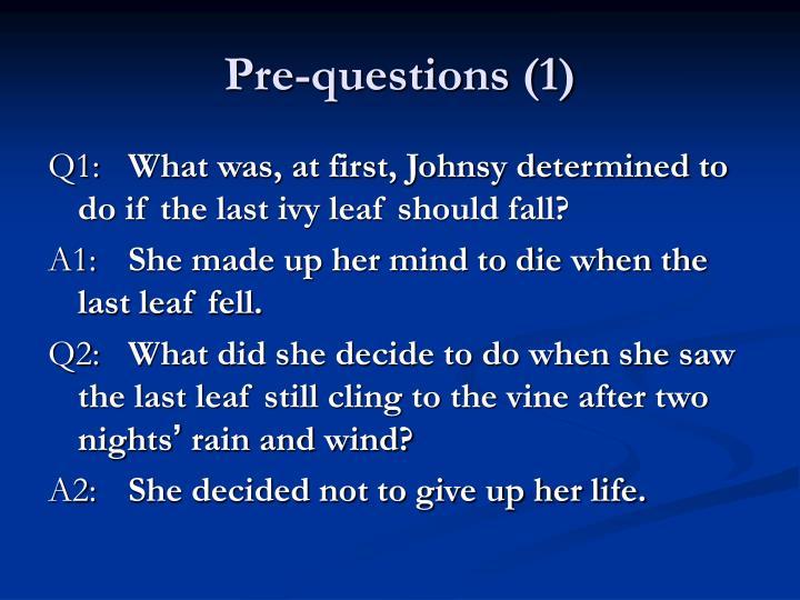 Pre-questions (1)
