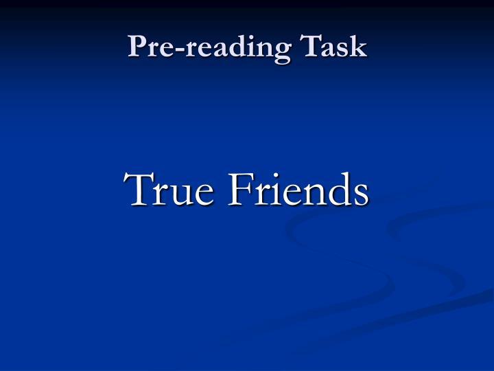 Pre-reading Task