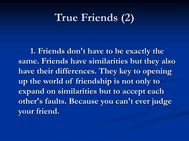 True Friends (2)