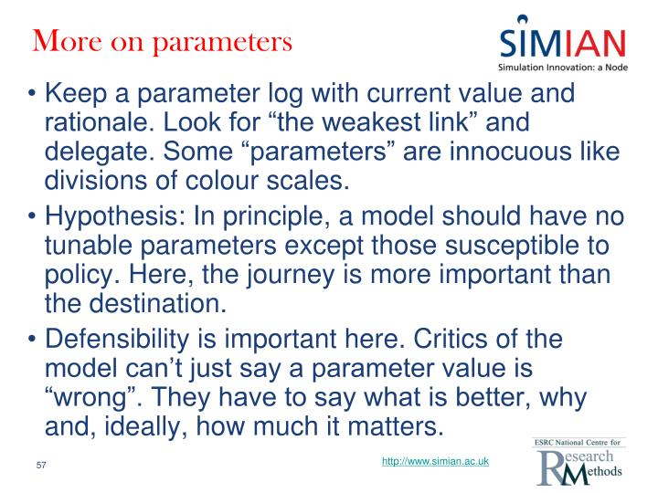 More on parameters
