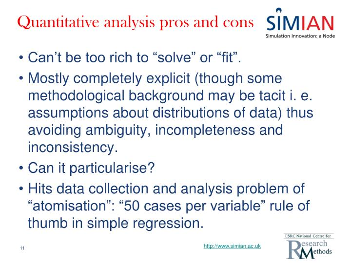 Quantitative analysis pros and cons