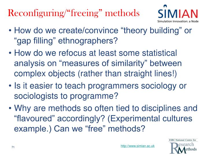 "Reconfiguring/""freeing"" methods"