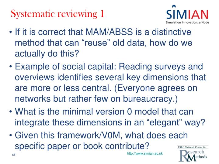 Systematic reviewing 1