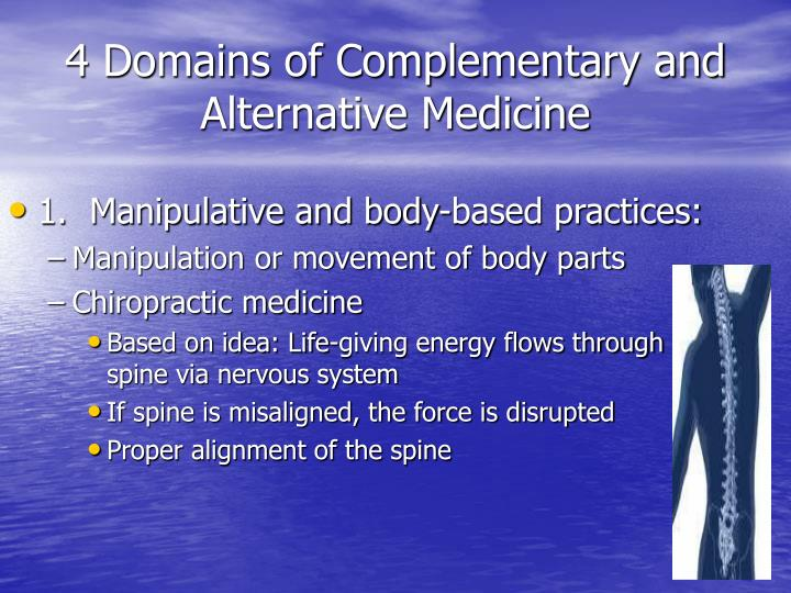 4 Domains of Complementary and Alternative Medicine