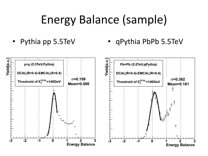 Energy balance sample