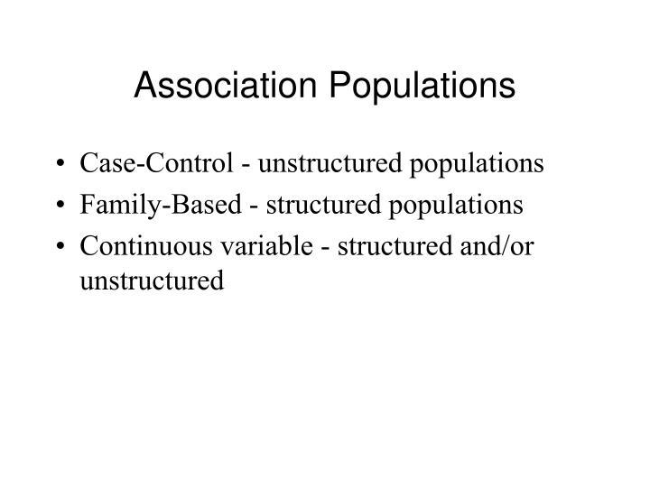 Association Populations