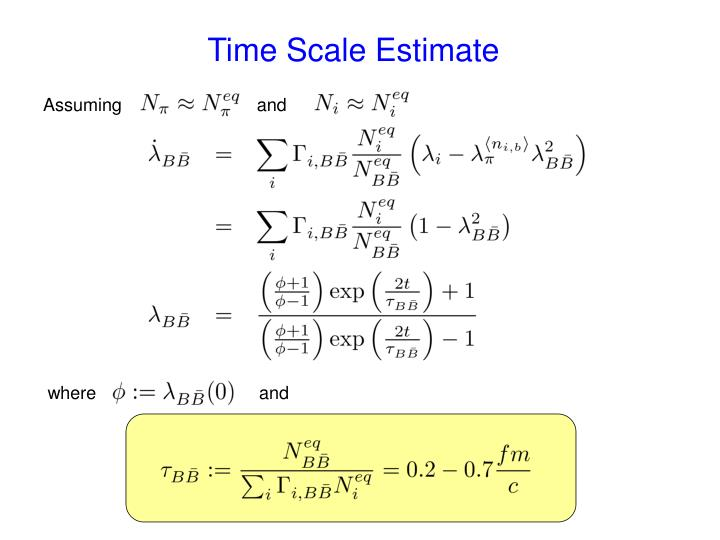 Time Scale Estimate