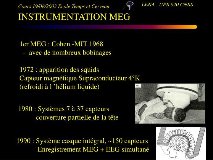 1980 : Systèmes 7 à 37 capteurs