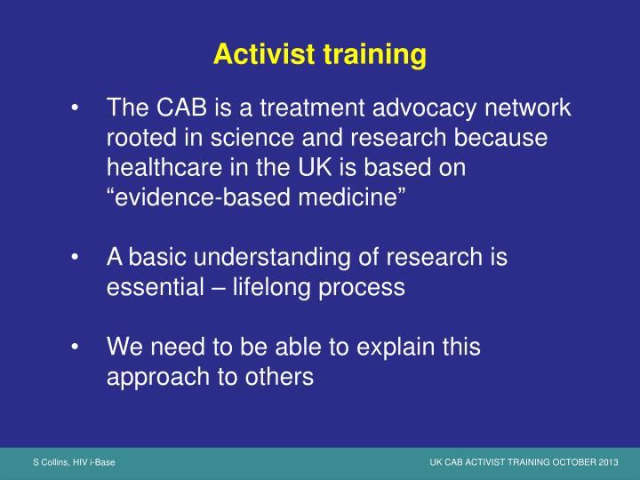 Activist training