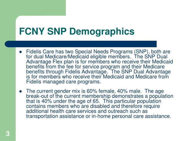 FCNY SNP Demographics