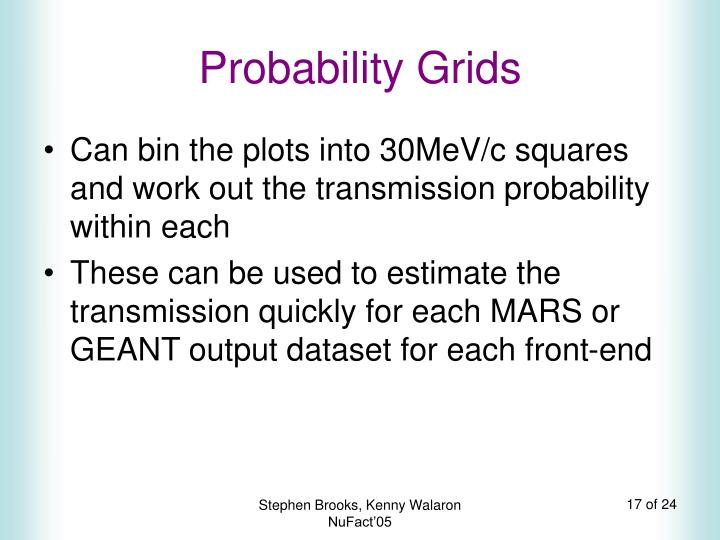 Probability Grids