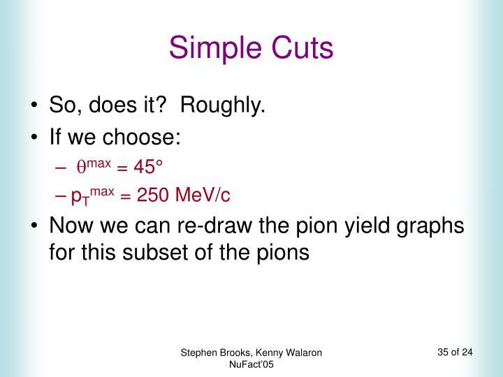 Simple Cuts