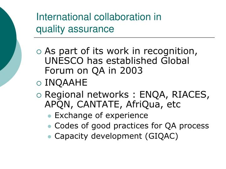 International collaboration in