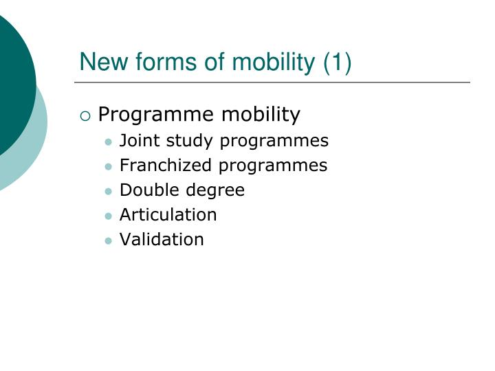 New forms of mobility (1)