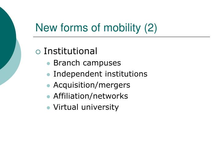 New forms of mobility (2)