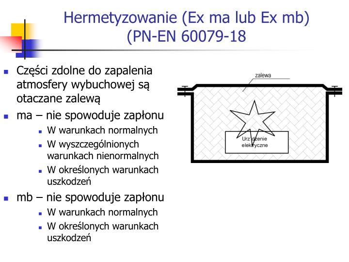 Hermetyzowanie (Ex ma lub Ex mb)