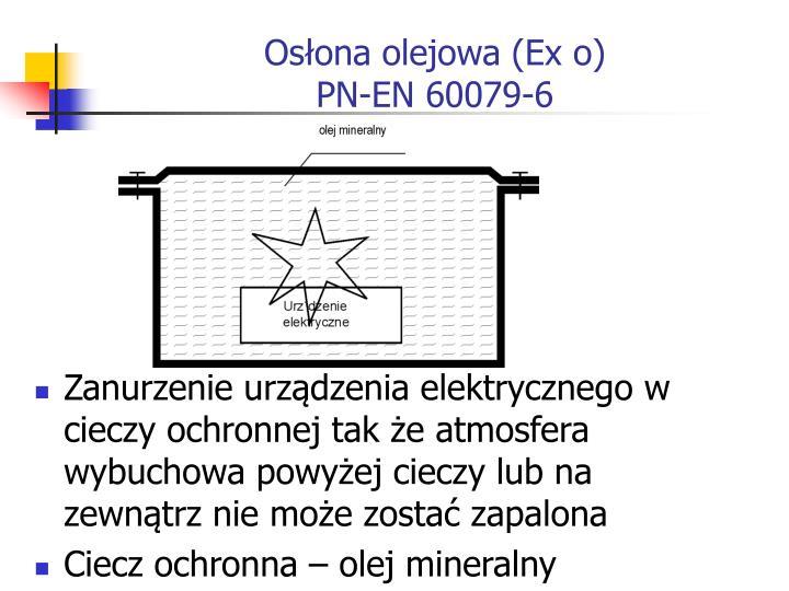 Osłona olejowa (Ex o)