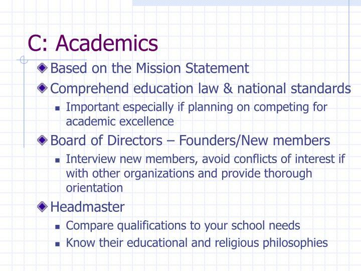 C: Academics
