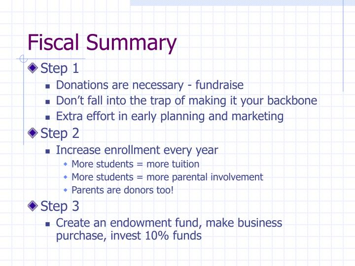 Fiscal Summary