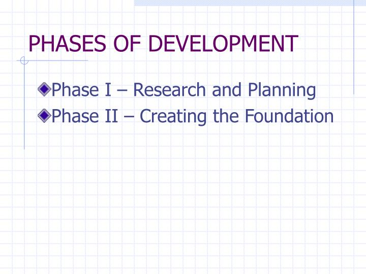Phases of development