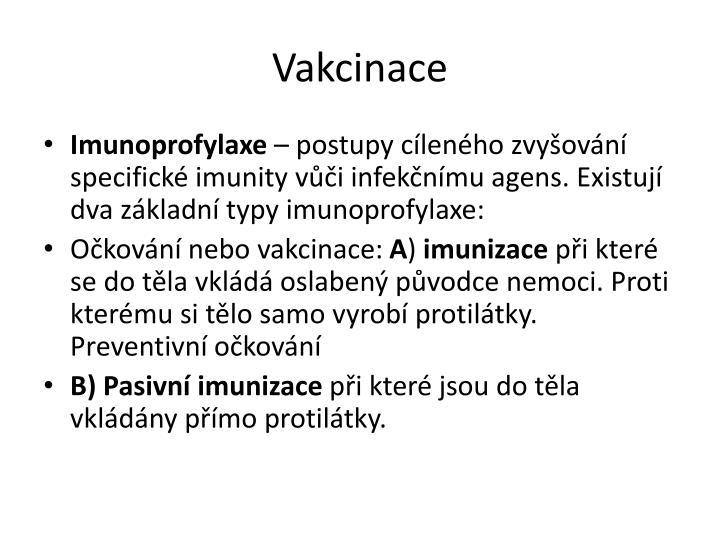 Vakcinace