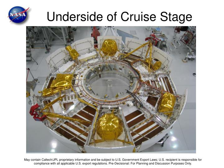 Underside of Cruise Stage