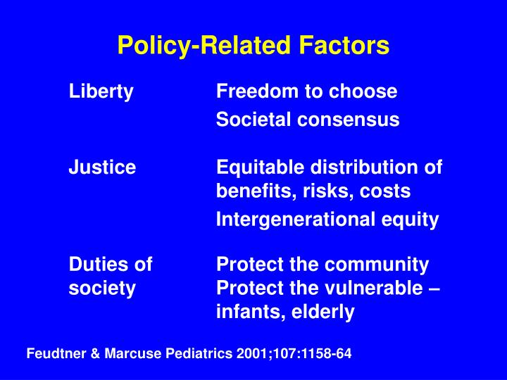 Policy-Related Factors