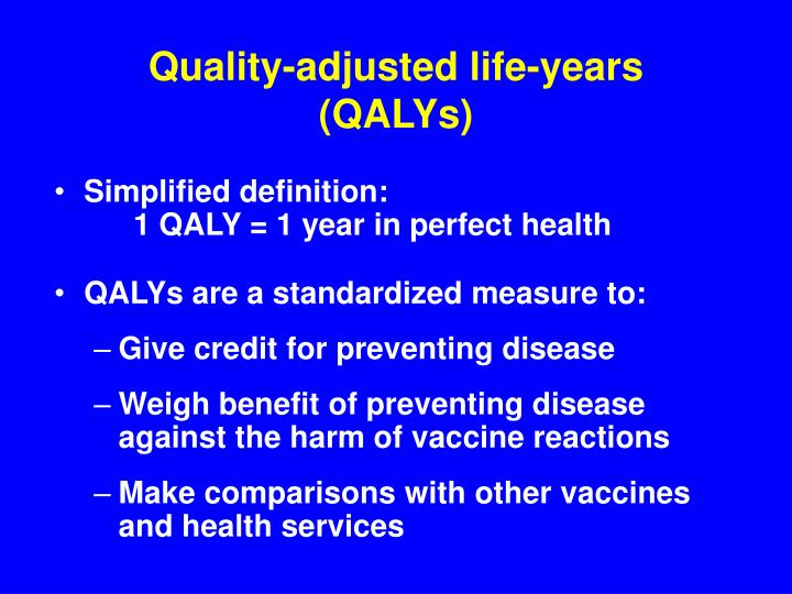 Quality-adjusted life-years (QALYs)