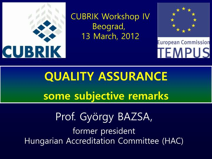 CUBRIK Workshop IV