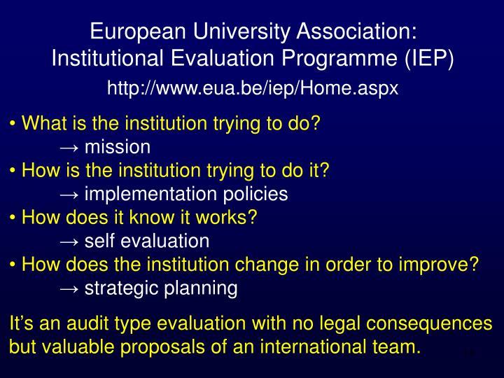 European University Association: