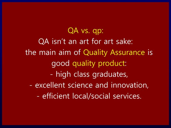 QA vs.