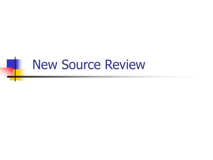 New Source Review