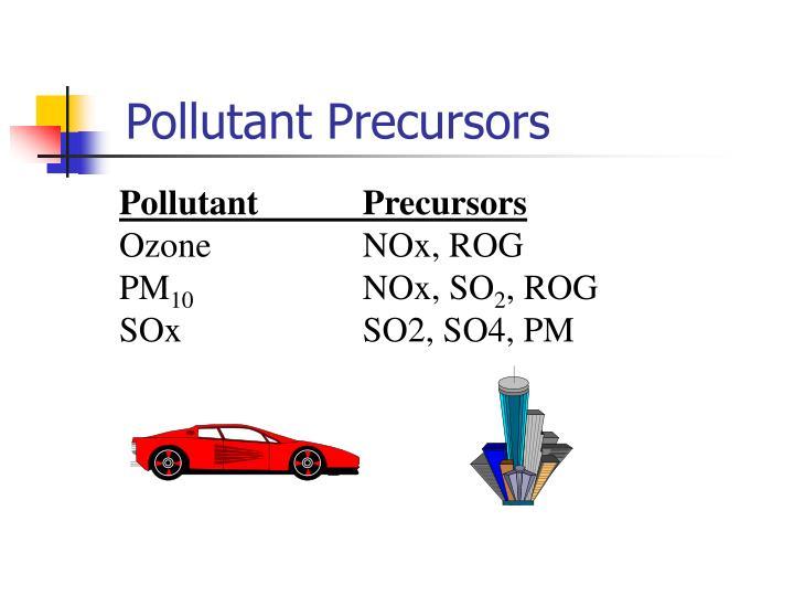 Pollutant Precursors