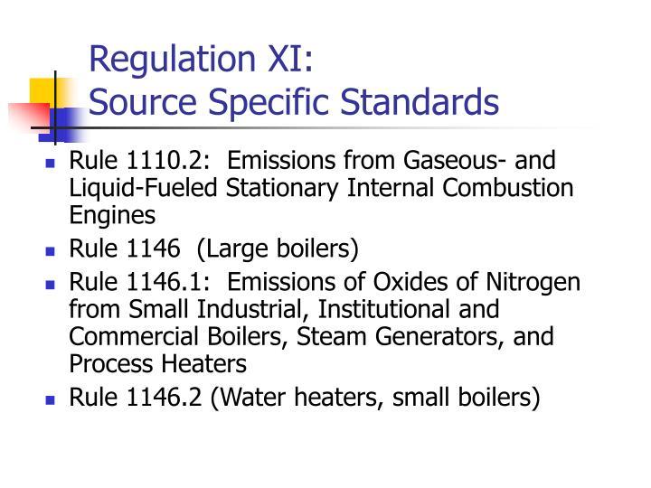 Regulation XI: