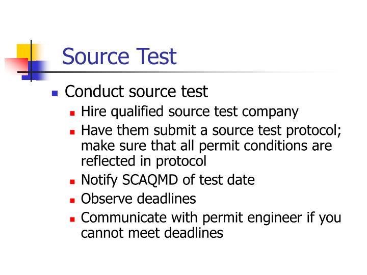 Source Test