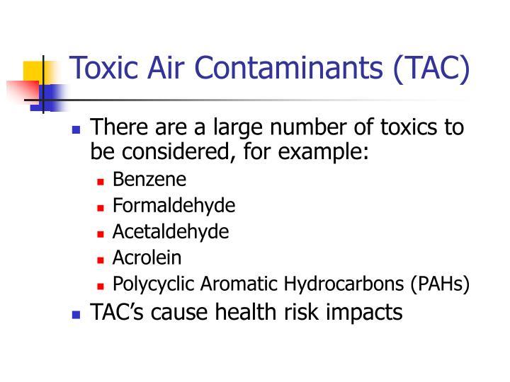 Toxic Air Contaminants (TAC)