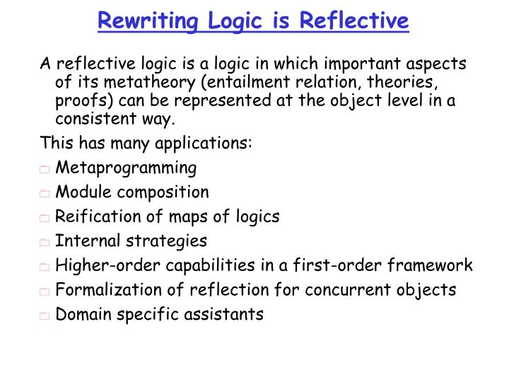 Rewriting Logic is Reflective