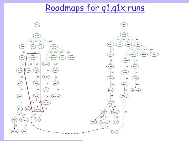 Roadmaps for q1,q1x runs