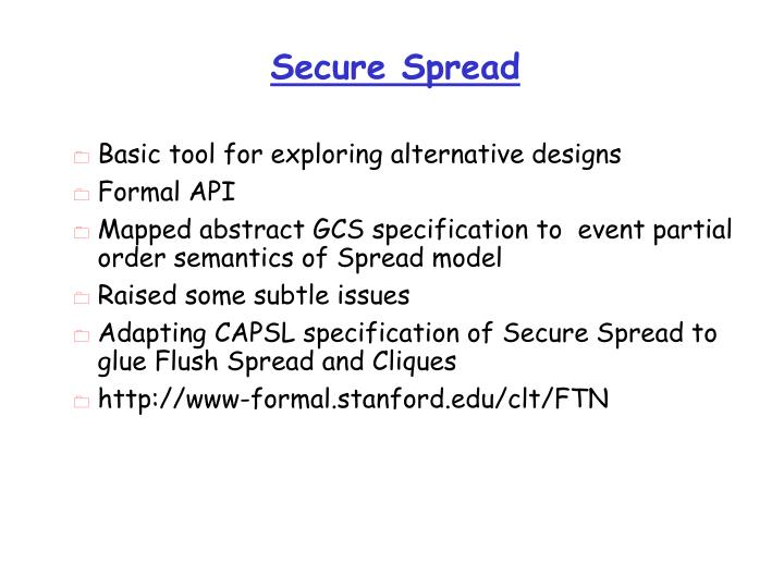Secure Spread