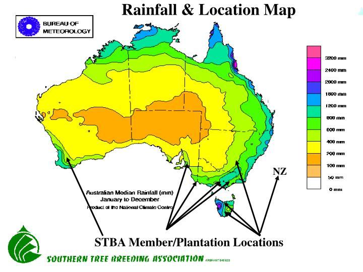Rainfall & Location Map