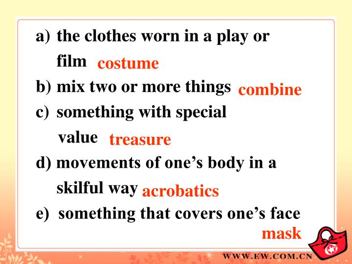 the clothes worn in a play or film