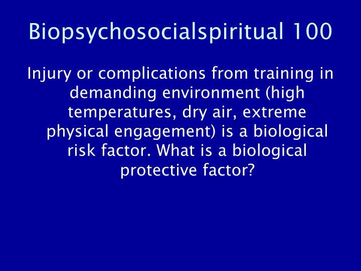 Biopsychosocialspiritual 100