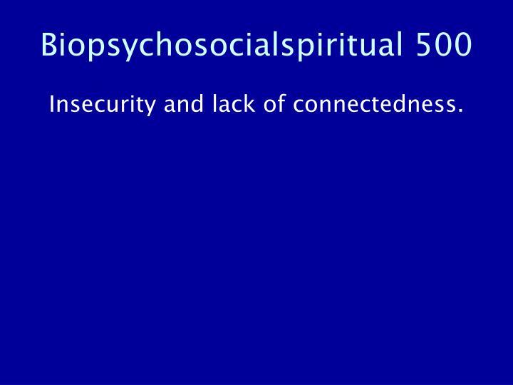 Biopsychosocialspiritual 500