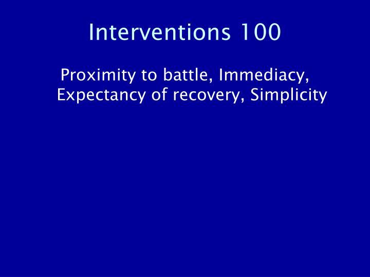 Interventions 100