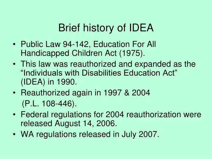 Brief history of IDEA