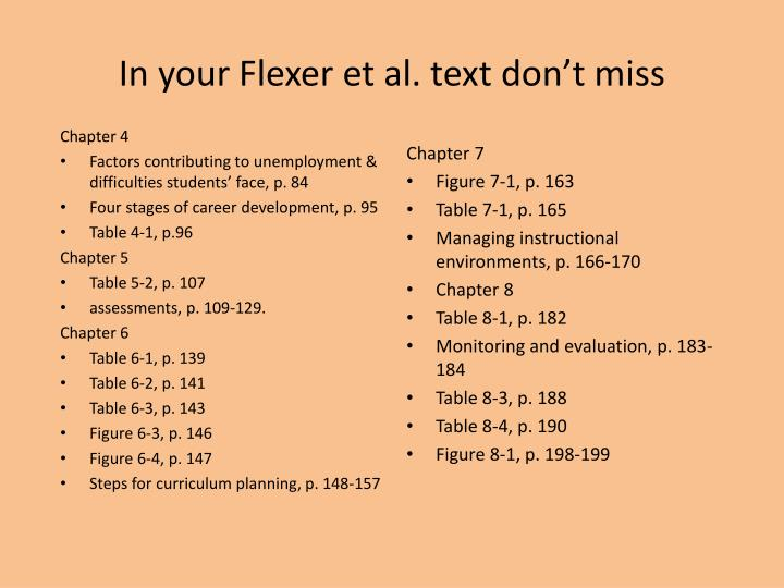 In your Flexer et al. text don't miss