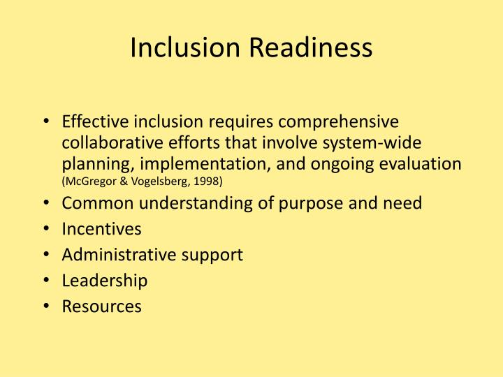 Inclusion Readiness