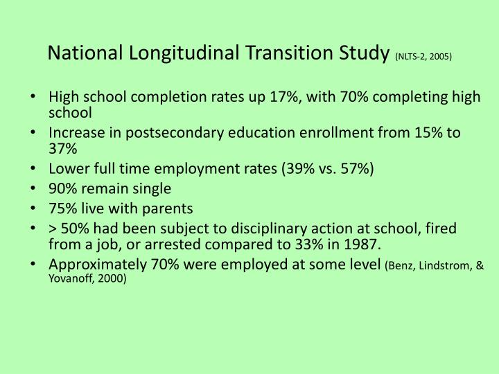 National Longitudinal Transition Study